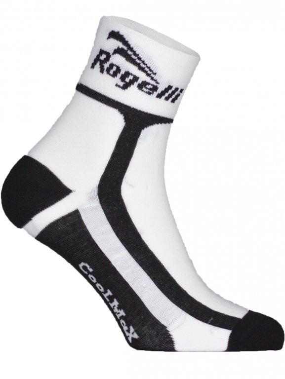 ponožky Rogelli COOLMAX funkční bílé, L