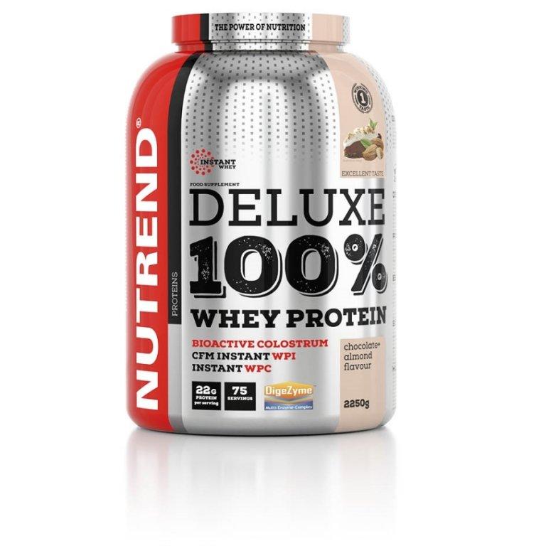 nápoj Nutrend DELUXE 100% WHEY 2250g čokoláda+mandle