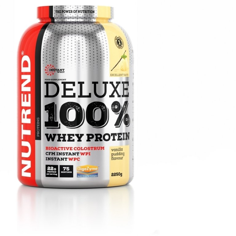 nápoj Nutrend DELUXE 100% WHEY 2250g vanilka