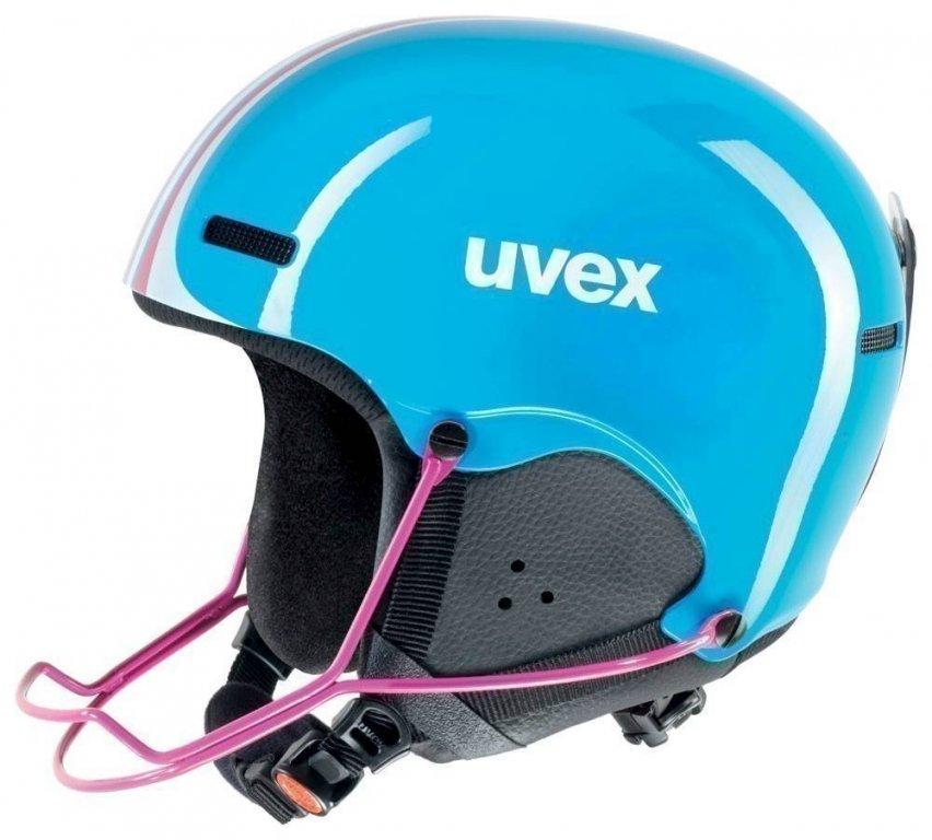 přilba lyžařská UVEX HLMT 5 JUNIOR RACE modrá, 48-52