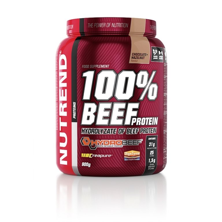 nápoj Nutrend 100% BEEF PROTEIN 900g čokoláda+oříšek