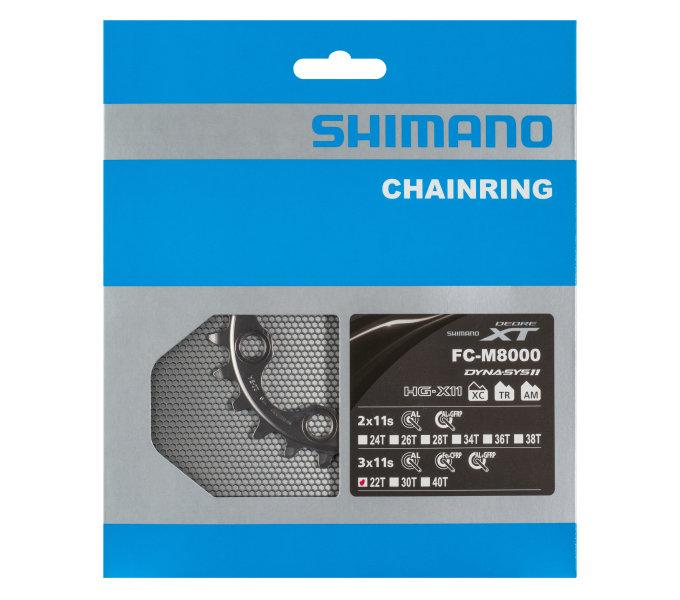 Převodník 22z Shimano XT FC-M8000 3x11 4 díry