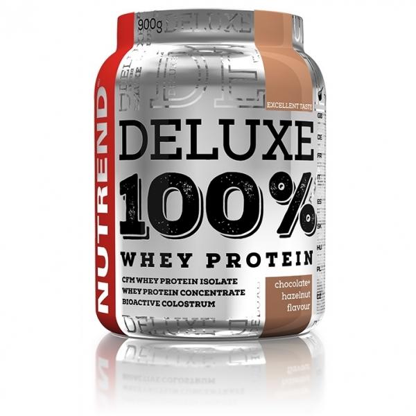 nápoj Nutrend DELUXE 100% WHEY 900g čokoláda+oříšek