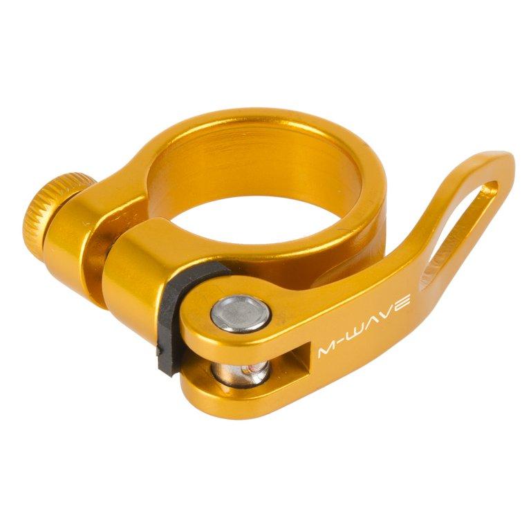 objímka sedlovky M-Wave Al 31.8 zlato-oranžová