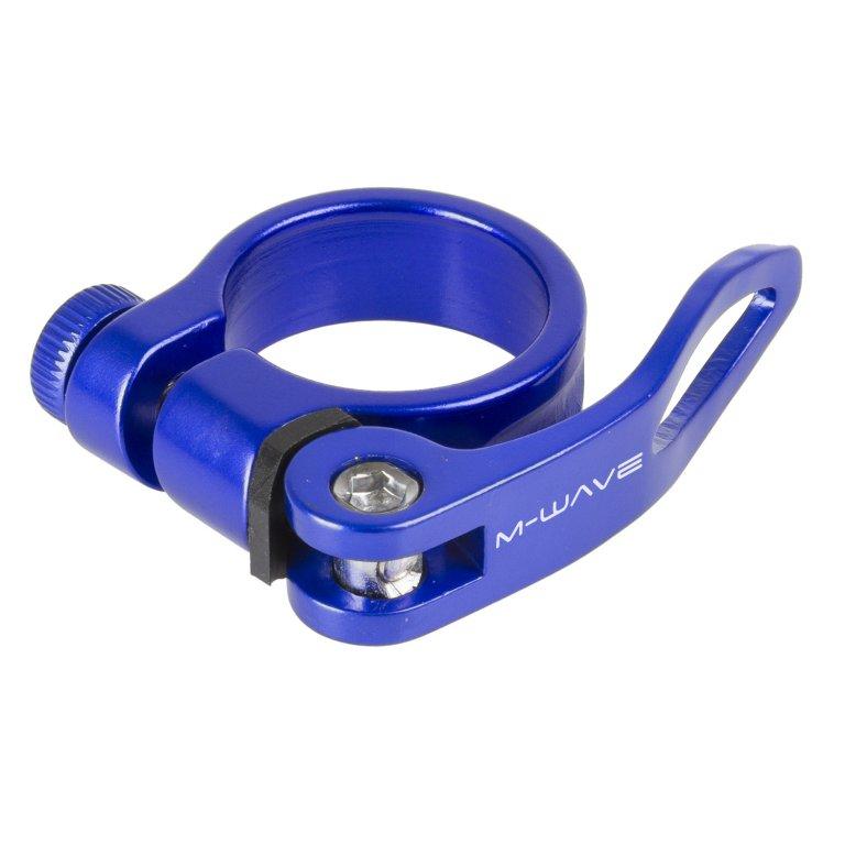 objímka sedlovky M-Wave Al 34,9 modrá