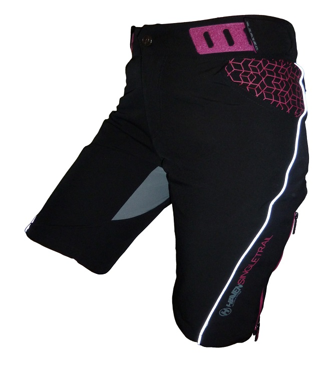 Kalhoty krátké dámské HAVEN SINGLETRAIL WMS černo/růžové