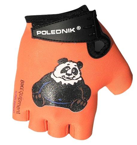 rukavice dětské Poledník oranžové panda, 4