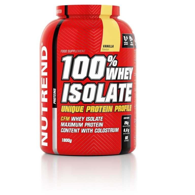 nápoj Nutrend 100% WHEY ISOLATE 1800g vanilka
