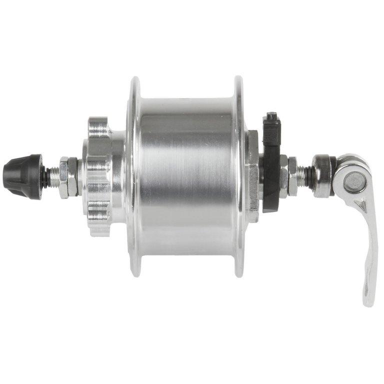 náboj dynamo 6V,3.0W 36d DISC stříbrný rychloupínací mechanismus