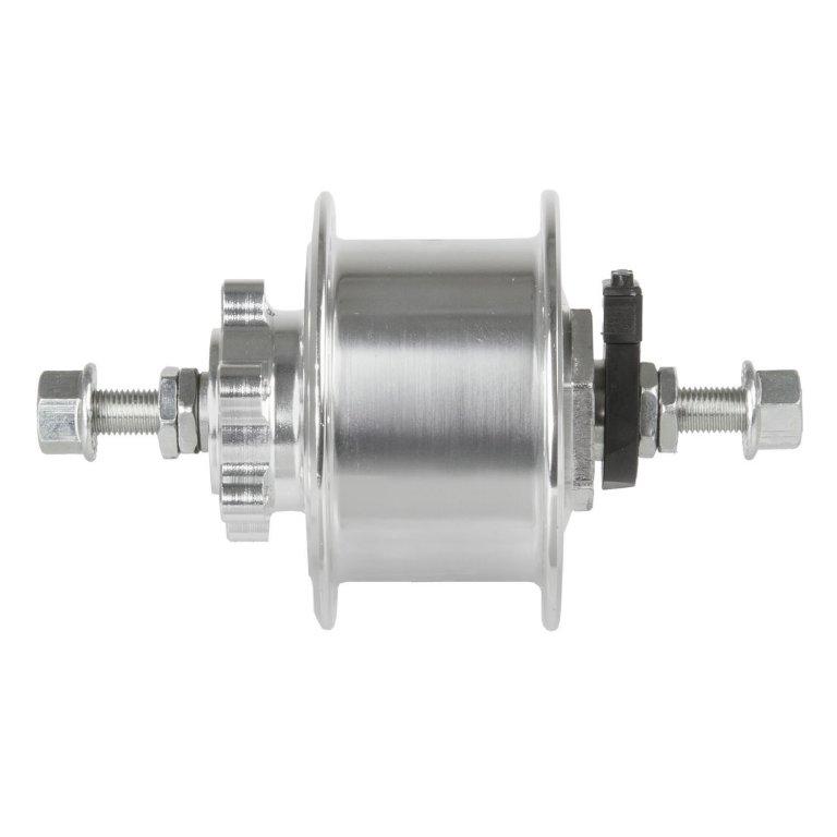 náboj dynamo 6V,3.0W 36d DISC stříbrný pevná osa