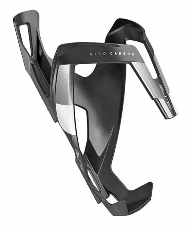 košík ELITE Vico Carbon černý/bílý