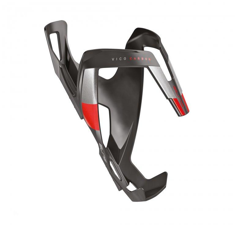 košík ELITE Vico Carbon černý/červený