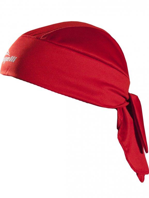 šátek Rogelli BANDANA pod přilbu červený