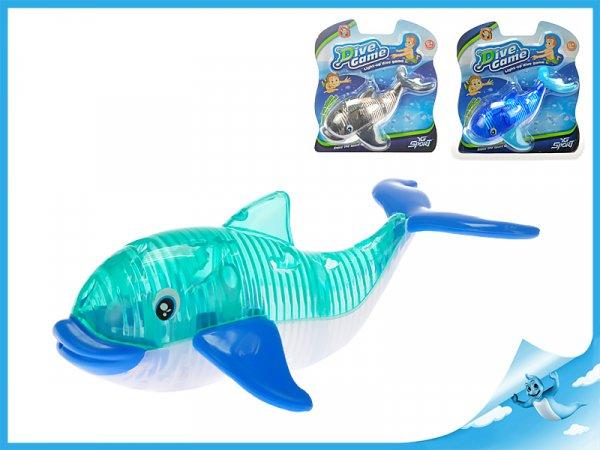 velryba 15cm se světlem, šedá