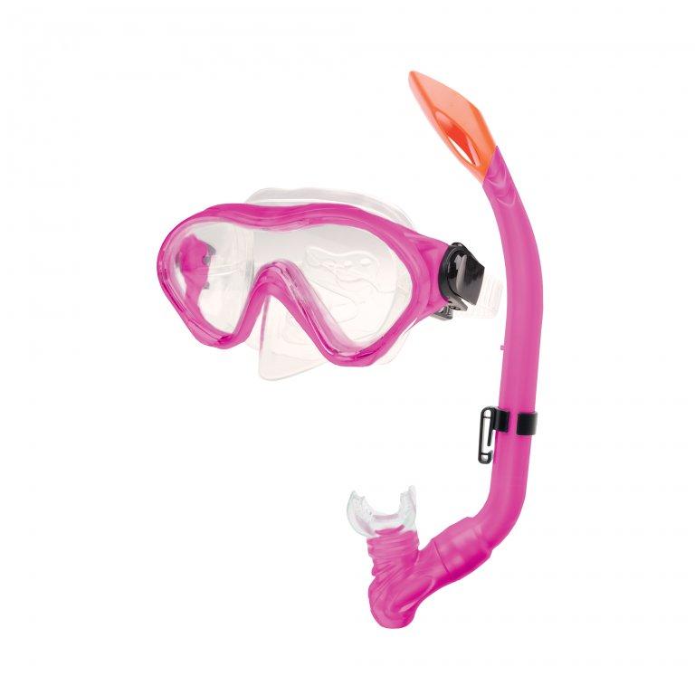 brýle+šnorchl Spokey CAYMAN JUNIOR růžové