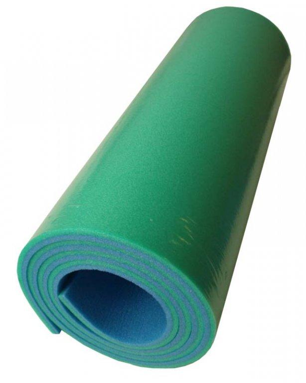 karimatka dvouvrstvá 10mm zeleno/fialová