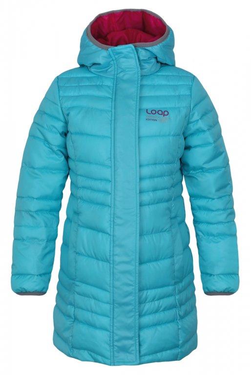 kabát dětský LOAP URZIKA zimní modrý, 116