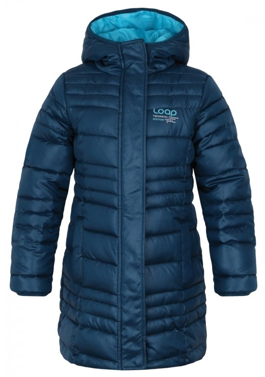 kabát dětský LOAP URZIKA zimní tmavě modrý, 116