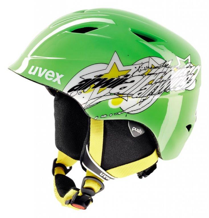 přilba lyžařská UVEX AIRWING 2 zelená/hvězda, 48-52