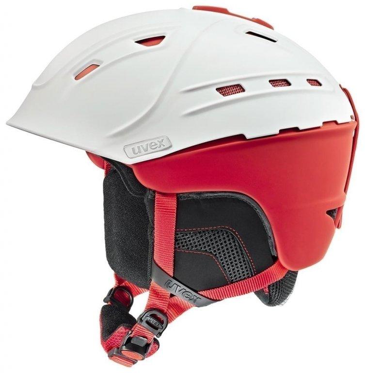 přilba lyžařská UVEX P2US bílo/červená, 59-61