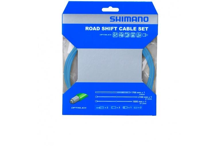 bowdeny+lanka Shimano OT-SP41 set modrý