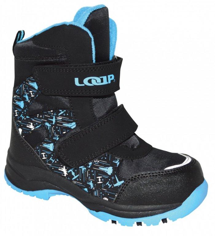 boty dětské LOAP CHOSEE zimní černo/modré, 22