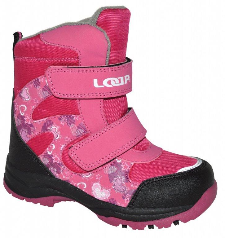 boty dětské LOAP CHOSEE zimní růžové, 22