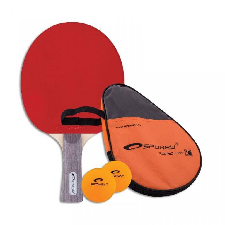 pálka na stolní tenis Spokey SMASH SET - pálka,pouzdro,2 míčky