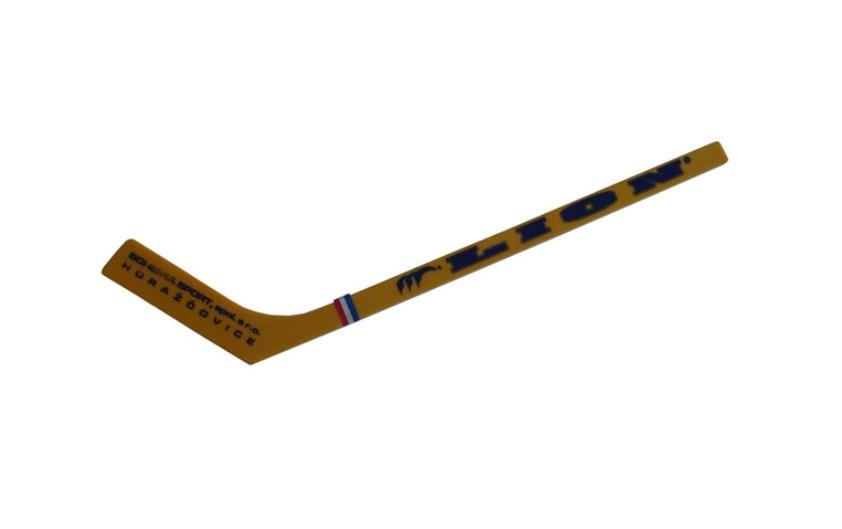 Hokejka mini Lion 30cm - žlutá rovná