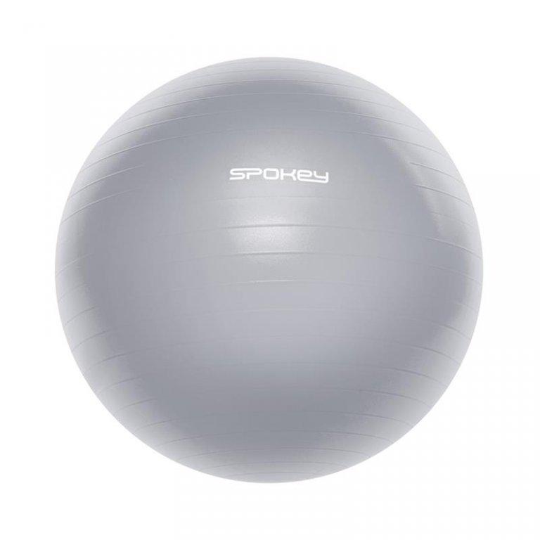 míč gymnastický Spokey FITBALL III 65cm šedý s pumpičkou