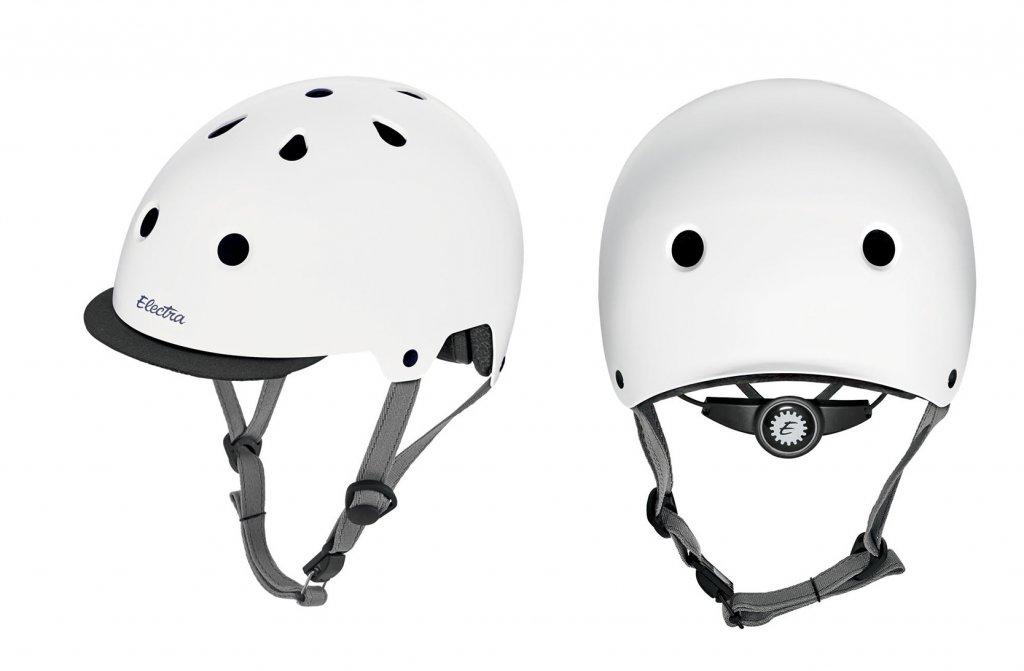 přilba ELECTRA Helmet Solid bílá, M