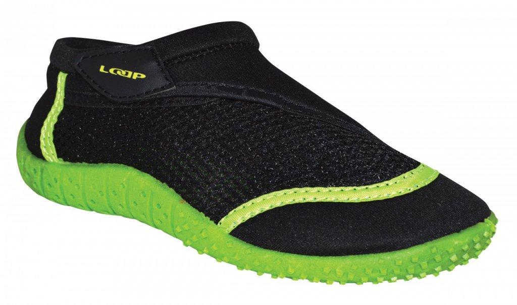 boty dětské LOAP HANK do vody černo/zelené, 30