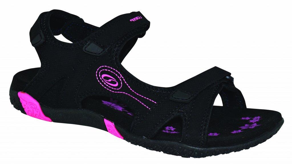boty dámské LOAP CAFFA sandály černo/růžové, 37
