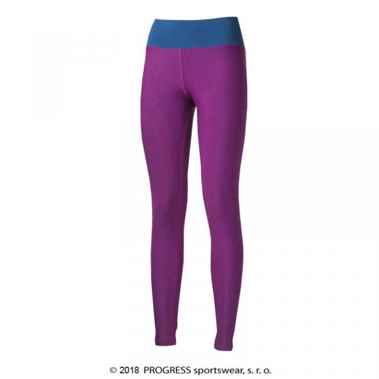 Kalhoty dlouhé dámské Progress BETTY fialovo/modré