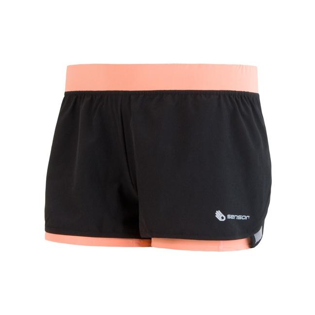 Kalhoty krátké dámské SENSOR TRAIL černo/meruňkové