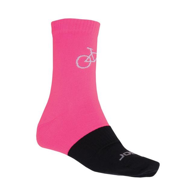 Ponožky SENSOR TOUR MERINO růžovo/černé