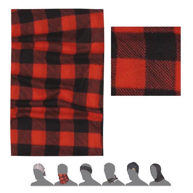 šátek roura SENSOR TUBE SQUARE červeno/černý