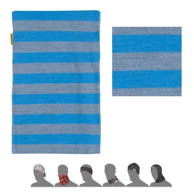 šátek roura SENSOR TUBE MERINO WOOL pruhy/modrý