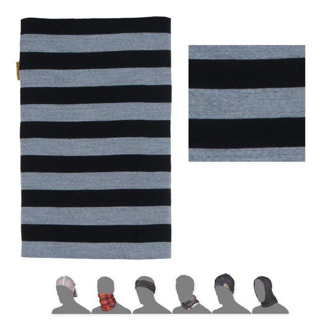 šátek roura SENSOR TUBE MERINO WOOL pruhy/černý