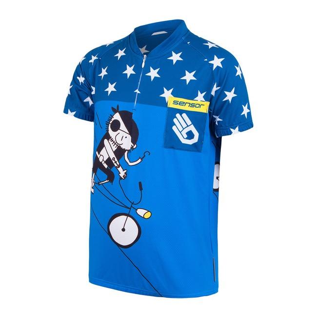 dres krátký dětský SENSOR PIRATE modrý, 120