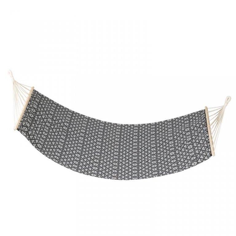 houpací síť Spokey ZUNI do 120 kg černo/bílá