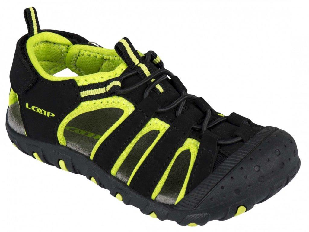 Boty dětské LOAP DOPEY sandály černo/zelené