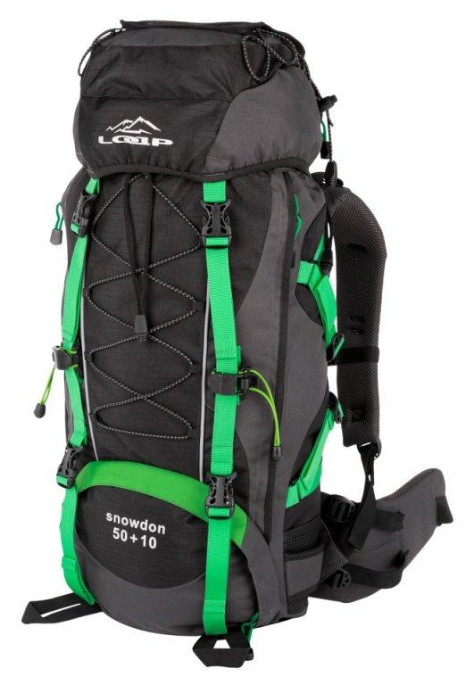 batoh LOAP SNOWDON 50+10 černo/zelený