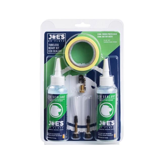 kit JOES READY TUBELESS - ECO SEALANT (48mm ventilek, 25mm páska)