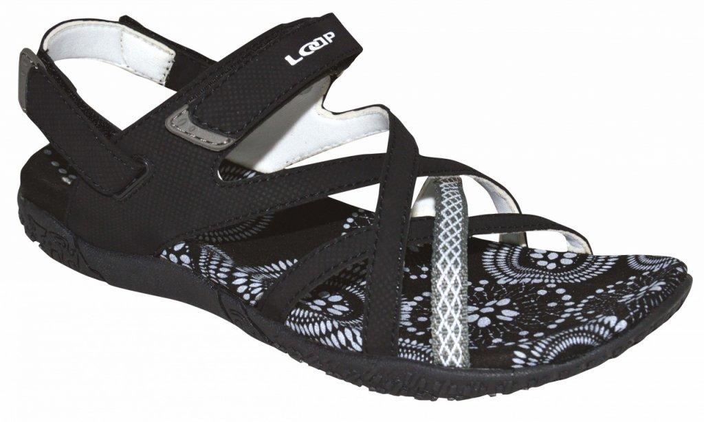 boty dámské LOAP CAIPA sandály černo/bílé, 39