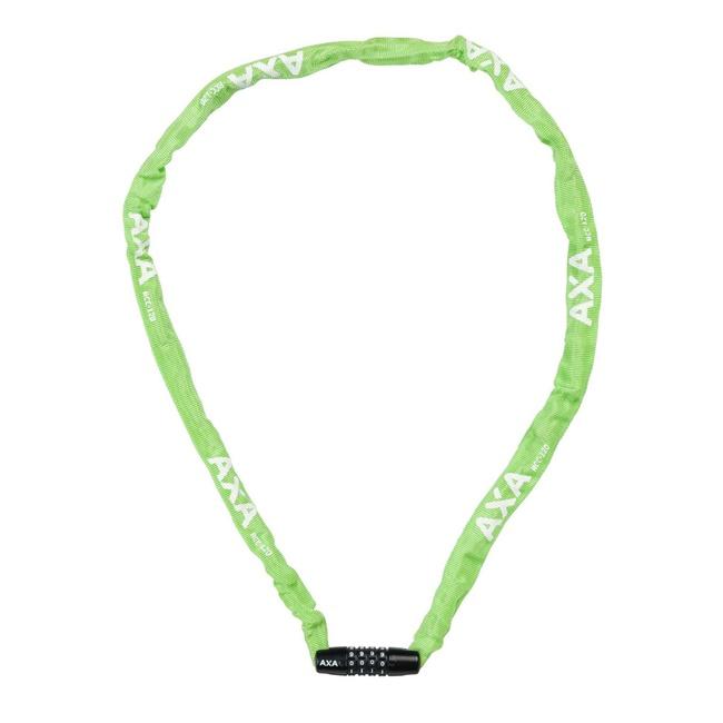 zámek AXA Rigid RCC 120x3,5mm kód zelený