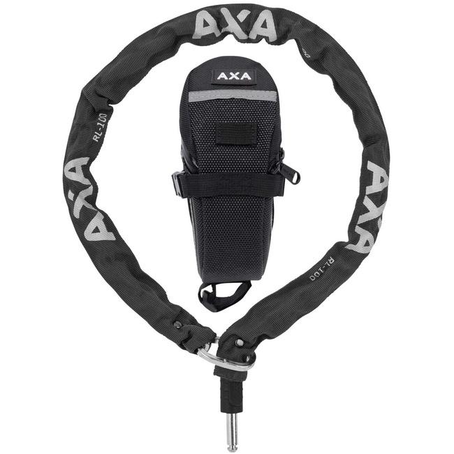 zámek AXA RLC plug-in 100x5,5mm + podsedlová brašna