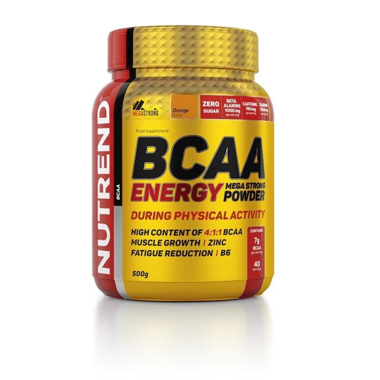 nápoj Nutrend BCAA Energy Mega Strong Powder 500g pomeranč