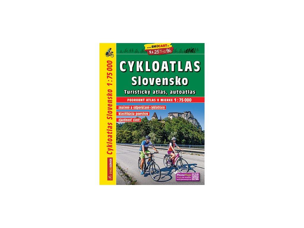 Mapa turistický cykloatlas Slovensko 1: 75