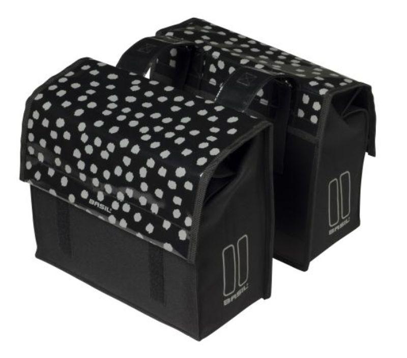 brašna BASIL Urban Load S Double dvojbrašna 25L černá reflexní